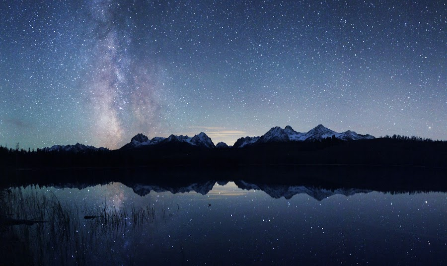 Goodnight Sawtooths by Dylan MacMaster - Landscapes Starscapes (  )