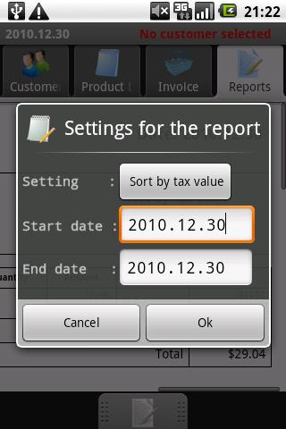 PGM-Invoice Tax Report - screenshot