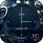 Black clock live wallpaper PRO