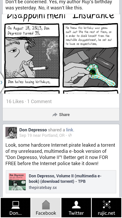 Don Depresso Comics- screenshot