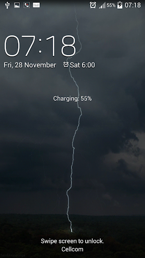 Lightening live wallpaper