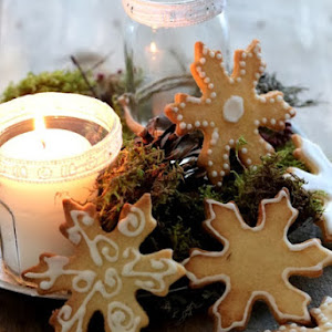 Christmas Cookies: Linzer and Snow Stars
