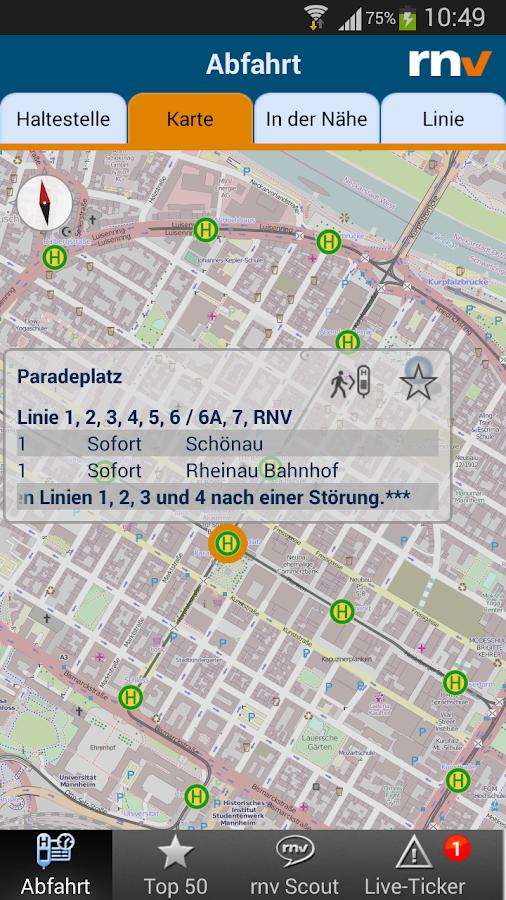 RNV Start.Info - screenshot