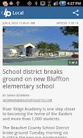 Screenshot of Island Packet Hilton Head news
