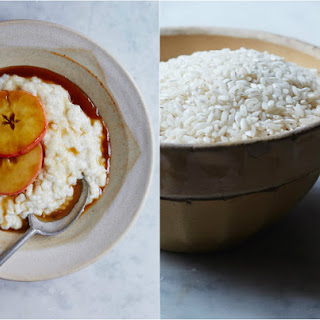 Warm Rice Pudding with Caramel Apples Recipe