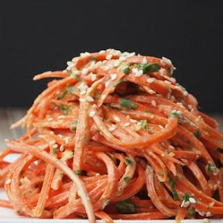 Cold Sesame Carrot Noodle Salad