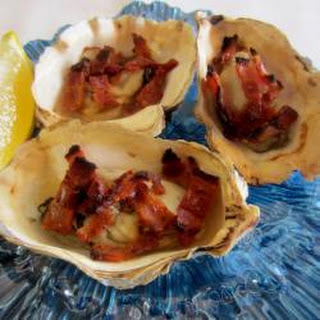 Grilled Oysters with Bacon and Lemon Recipe