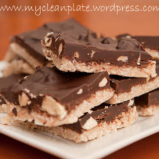 Choc Almond & Coconut Slice (Gluten Free, Low Fodmap, Lactose Free, Clean Eating, Low Carb, Vegan).