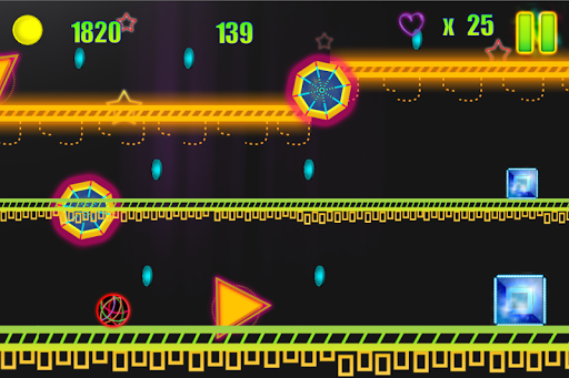 Bouncing Neon Ball: Red Spikes