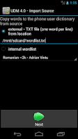 Screenshot of User Dictionary Manager (UDM)