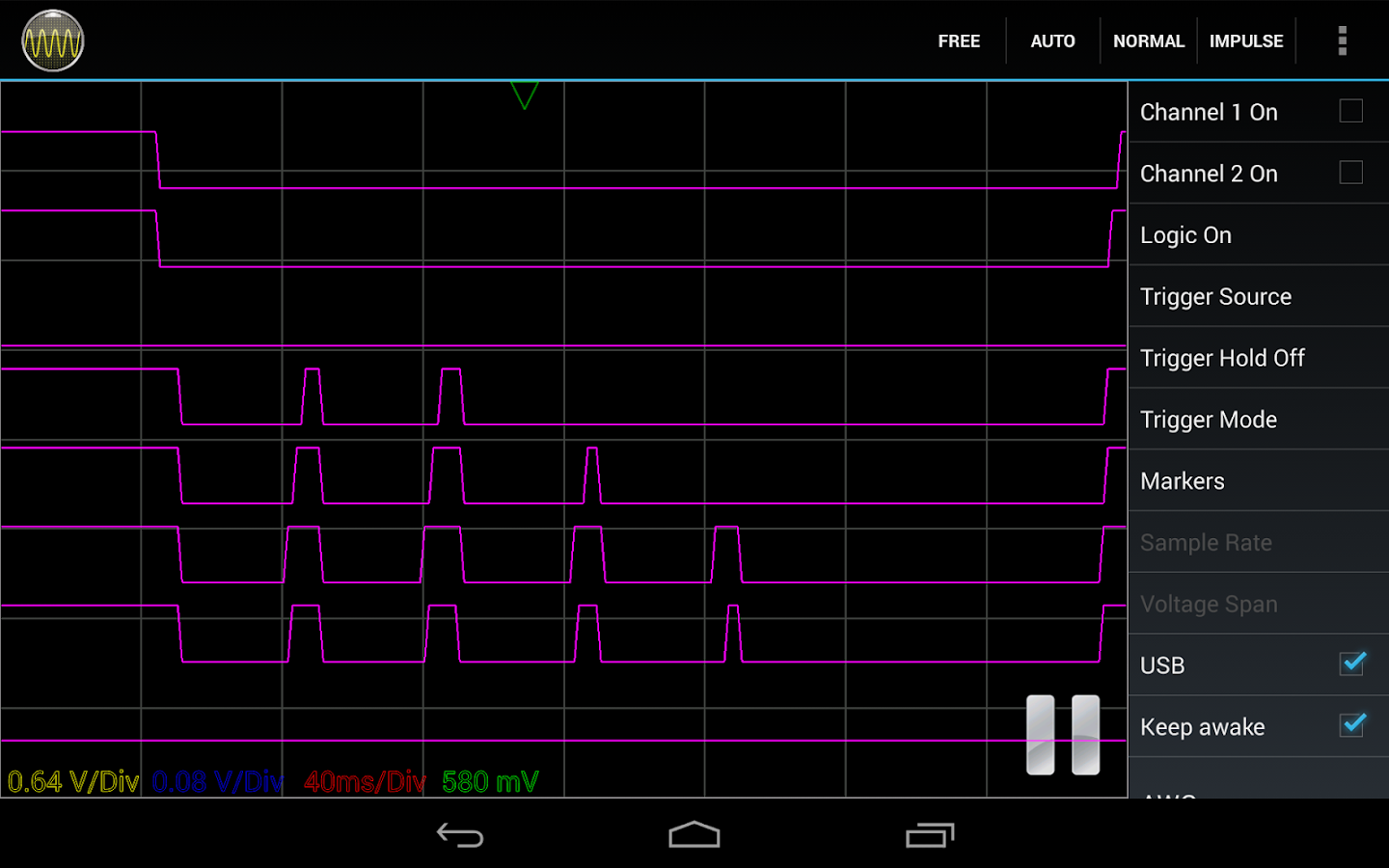 Oscilloscope Pro- screenshot