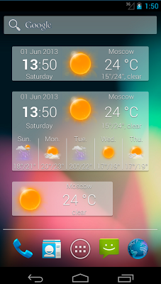 Weather Widget MIUI style - screenshot