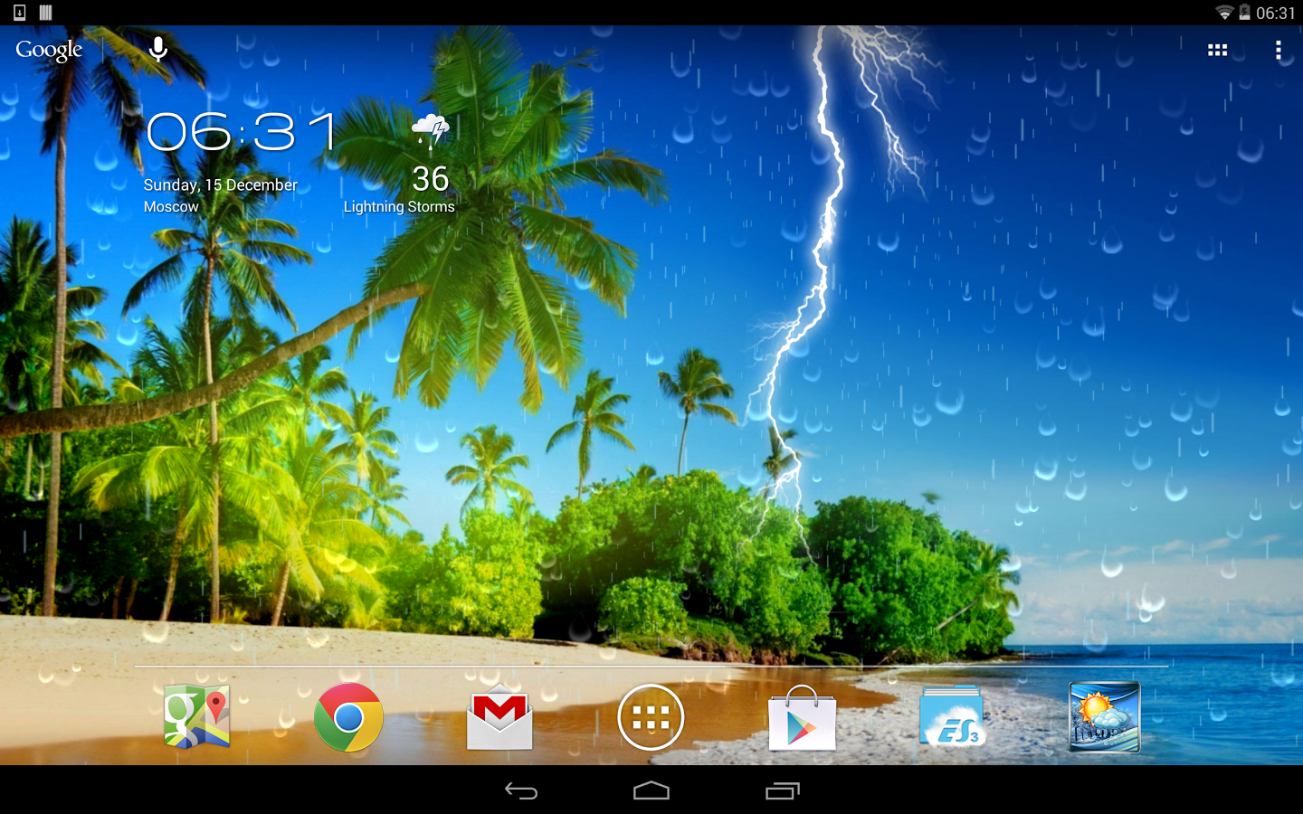 Weather Screen - screenshot