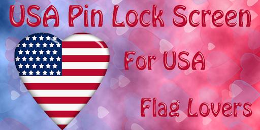 USA Flag Pin Lock Screen