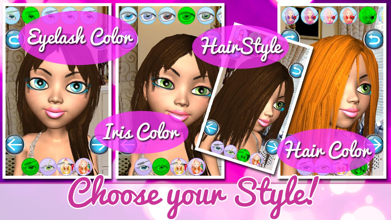 Princess game salon angela 3d android apps on google play for 3d beauty salon games