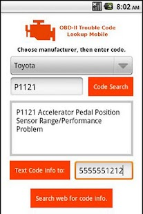OBD 2 Trouble Code Lookup - screenshot thumbnail