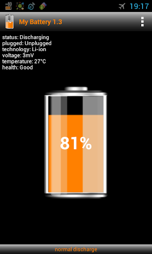 My Battery info discharge
