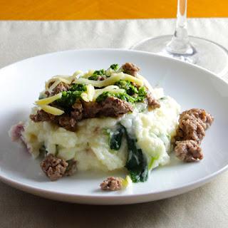 Irish Cheddar Potatoes with Lamb and Parsley Pesto #WeekdaySupper