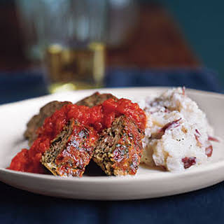 Turkey Meat Loaf with Mashed Potatoes.