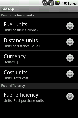 Fuel Tracker- screenshot