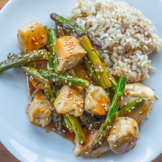 Post Workout Lemon Ginger Chicken & Asparagus Stir-fry
