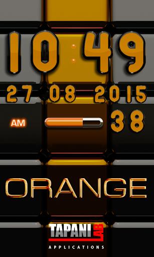 Digi 時鐘黑橙構件