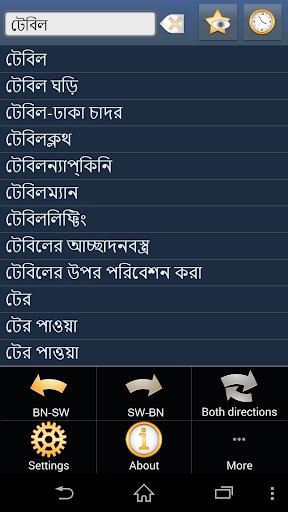 Bengali Swahili dictionary