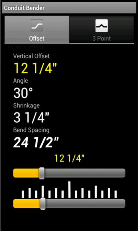 Conduit Bending Calculator - screenshot