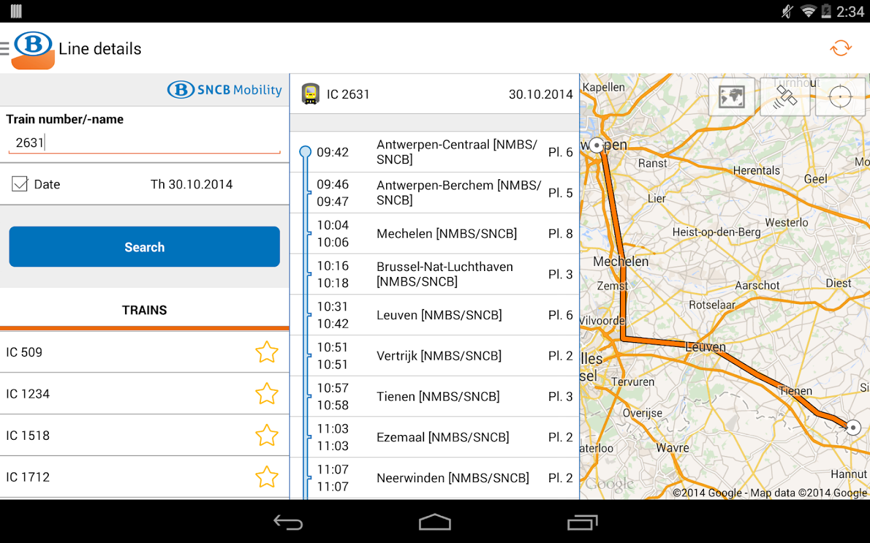 SNCB/NMBS - screenshot