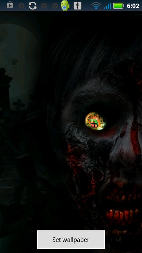 Zombie Eye Live Wallpaper - screenshot