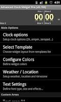 Screenshot of Advanced Clock Widget Pro