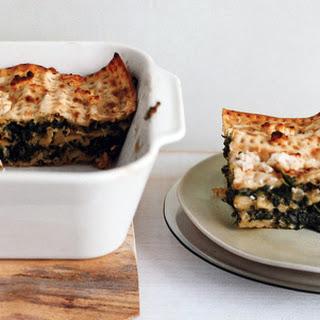 Spinach and Matzoh Pie.