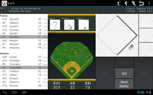 6-4-3 Baseball Scorecard- screenshot thumbnail