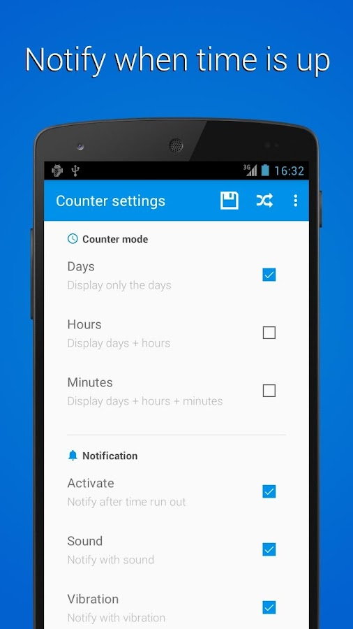 Counter Widget for Android- screenshot