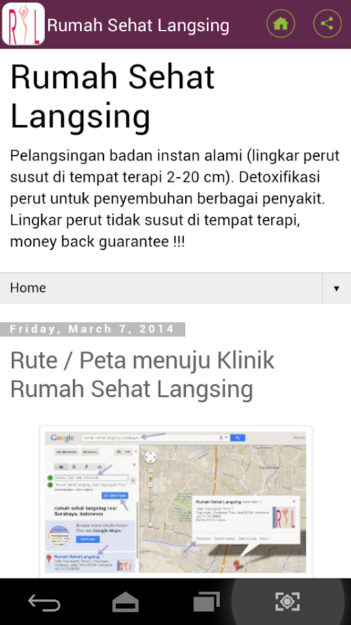 Rumah Sehat Langsing - Android Apps on Google Play
