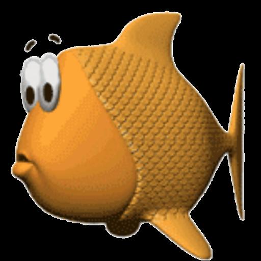 Картинки анимация рыбка, днем рождения
