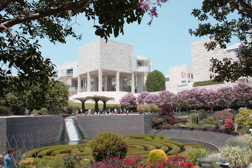 getty-center-los-angeles - The Getty Center Museum in Los Angeles. The $1.3 billion museum opened in 1997 and is renowned for its architecture, gardens and fabulous views of LA.