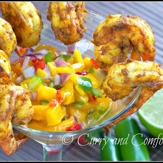 Masala Shrimp Cocktail with Mango Salsa