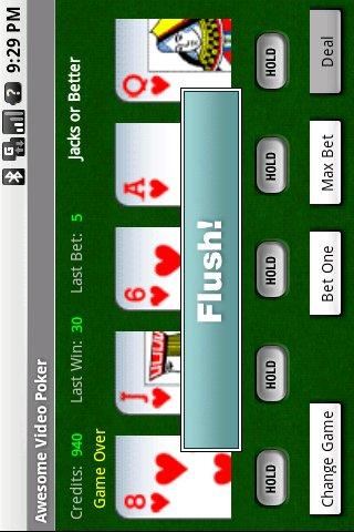 Awesome Video Poker! - screenshot