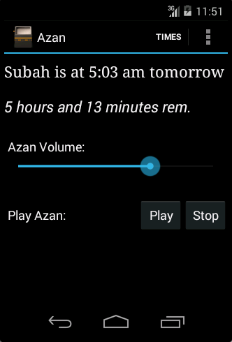 Azan Notifier