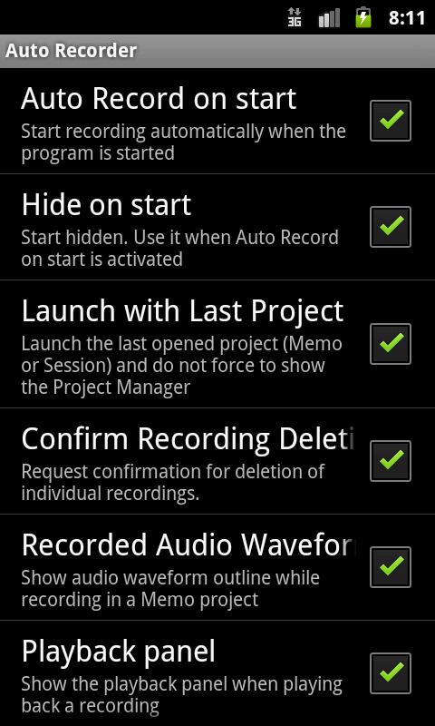 Automatic Recorder- screenshot