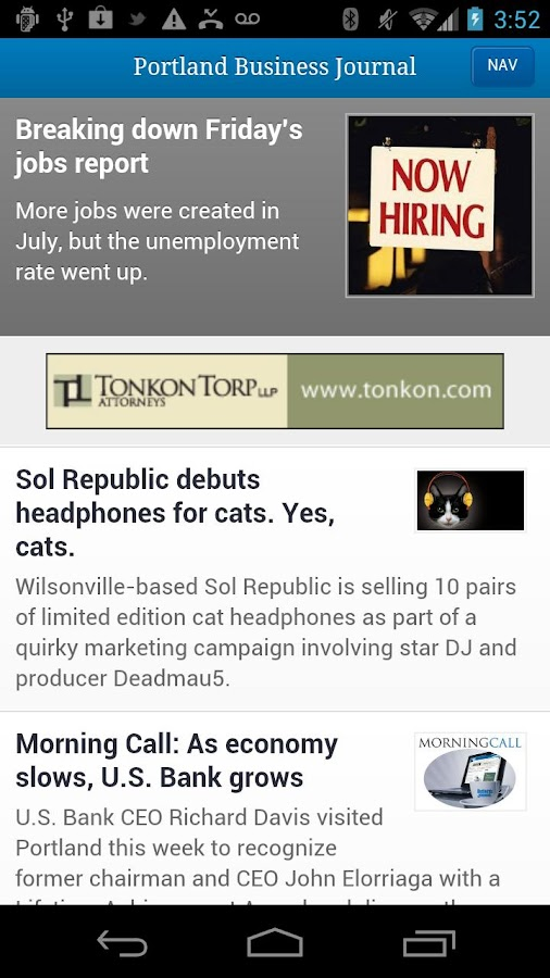The Portland Business Journal - screenshot
