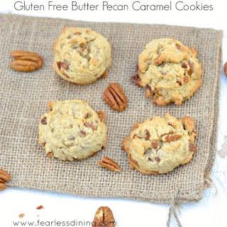 Gluten Free Butter Pecan Caramel Cookies.