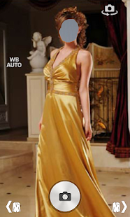 Women long dress photo montage screenshot