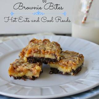 Caramel Toffee Pecan Brownie Bites