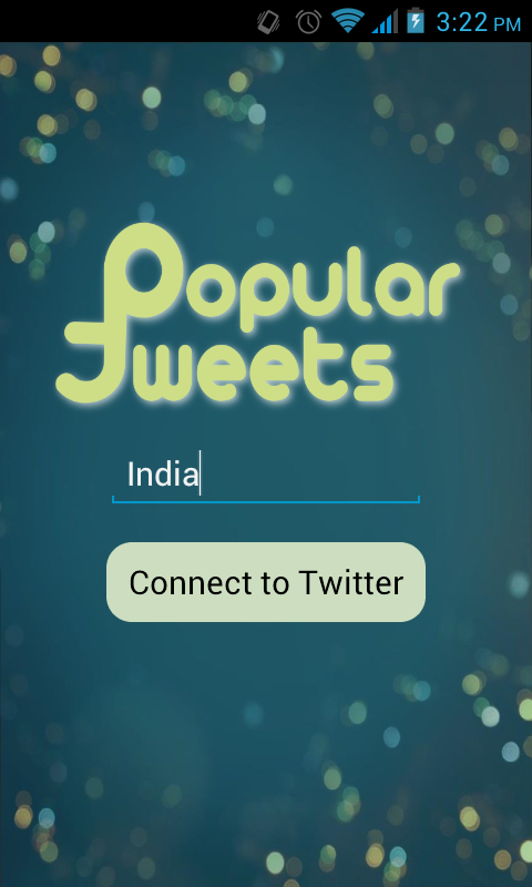 Popular Tweets- screenshot