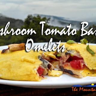 Meatless Monday ~ Mushroom Tomato Basil Omelets
