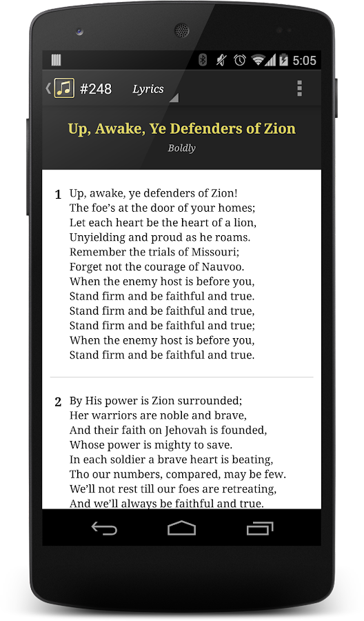 LDS Hymns with Notes - screenshot