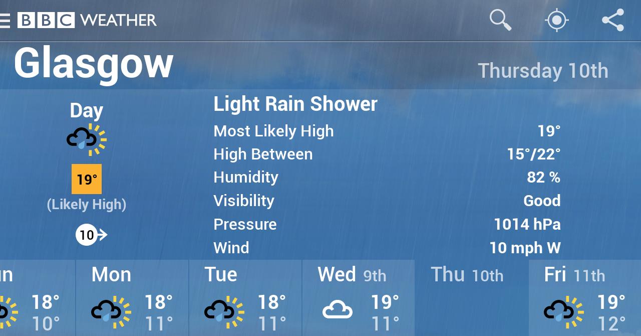 BBC Weather screenshot #5