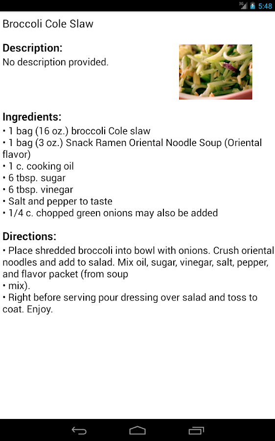 Broccoli Recipes - screenshot